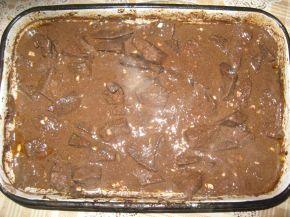 Снимка 1 от рецепта за Печен свински черен дроб с чуден сос