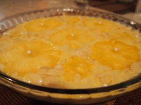 Снимка 1 от рецепта за Бърз и лек десерт с ананас и бадеми