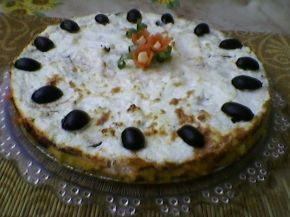 Снимка 1 от рецепта за Зеленчуков чийзкейк с качамак