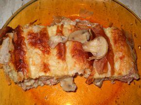 Снимка 1 от рецепта за Баница с кайма, гъби и сос Бешамел