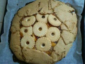 Снимка 1 от рецепта за Нестандартен пай от праскови