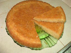 Снимка 1 от рецепта за Арабско реване с грис и малинов сироп