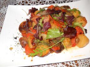 Снимка 1 от рецепта за Картофи с бекон и гъби в плик