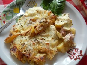 Снимка 1 от рецепта за Мусака от картофи, гъби и кайма