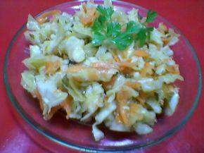Снимка 1 от рецепта за Салата от моркови, зеле и магданоз с марината