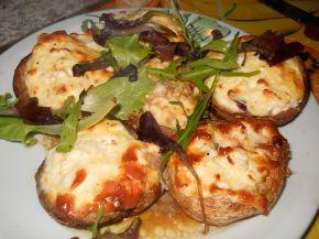 Снимка 1 от рецепта за Пълнени гъби със сирене и яйца