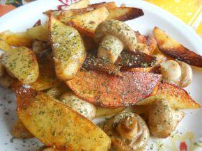 Снимка 1 от рецепта за Гарнитура от пържени  гъби и картофи