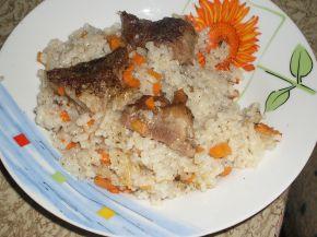 Снимка 1 от рецепта за Свинско месо с ориз и моркови на фурна
