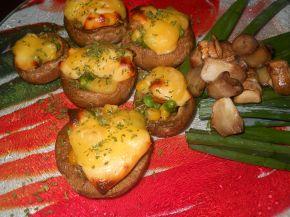 Снимка 1 от рецепта за Гъби с микс от зеленчуци, топено сирене и кашкавал