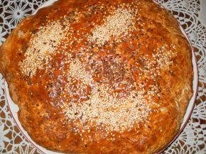 Снимка 1 от рецепта за Содена питка с прясно мляко и сусам