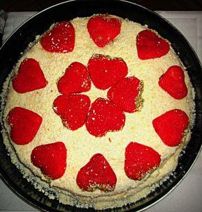 Снимка 1 от рецепта за Торта с пандишпанени блатове и млечен крем