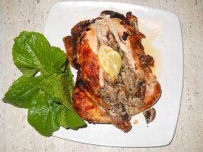 Снимка 1 от рецепта за Пълнено пиле с гъби и ориз