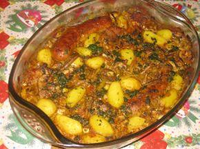 Снимка 1 от рецепта за Месно-зеленчукова фантазия