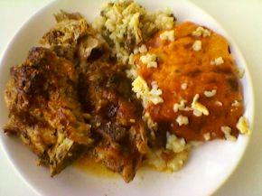 Снимка 1 от рецепта за Агнешко печено и дроб-сарма  -
