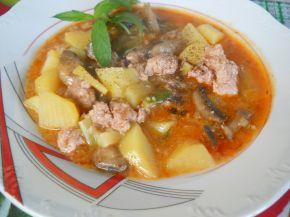 Снимка 1 от рецепта за Ястие с гъби, картофи и кайма