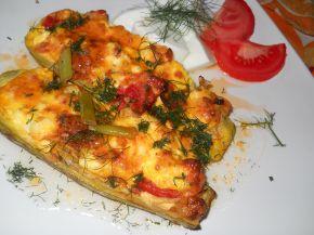 Снимка 1 от рецепта за Тиквички със сирене и яйце на фурна