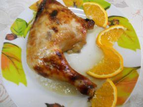Снимка 1 от рецепта за Пиле с мед и портокал