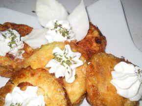 Снимка 1 от рецепта за Панирани тиквички с плънка от яйце и сирене