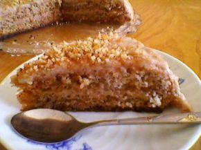 Снимка 1 от рецепта за Сладкиш с орехови блатове, орехов крем и орехов крокан