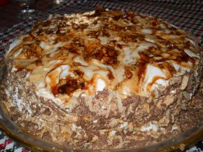 Снимка 1 от рецепта за Сметанова торта с карамелизирани орехи