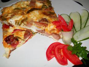 Снимка 1 от рецепта за Омлет със зеленчуци и колбас на фурна