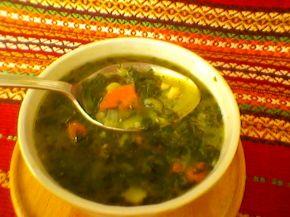 Снимка 1 от рецепта за Спаначена супа с пиле
