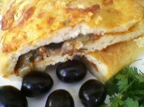 Снимка 1 от рецепта за Калцоне с патладжан, маслини и лук