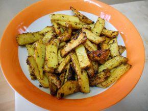Снимка 1 от рецепта за Пикантни пържени картофки
