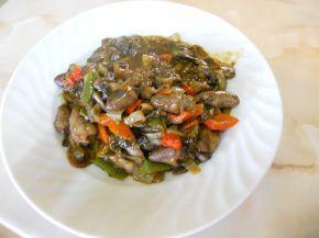 Снимка 1 от рецепта за Пилешки сърца по селски