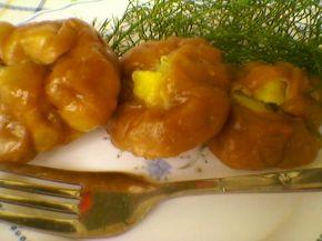 Снимка 1 от рецепта за Запечени `пелмени` с плънка от картофи, копър и слънчоглед