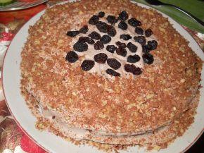 Снимка 1 от рецепта за Какаов сладкиш с орехи и сушени плодове