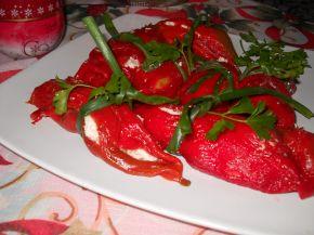 Снимка 1 от рецепта за Предястие от печени чушки с извара