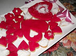 Снимка 1 от рецепта за Фонданови сърчица - Валентинки