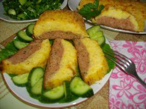 Снимка 1 от рецепта за Картофено руло с кайма