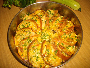 Снимка 1 от рецепта за Пица гратен от хляб