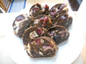 Снимка 1 от рецепта за Шоколадов кекс с череши и крема сирене