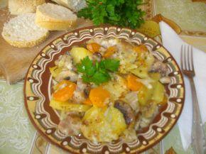 Снимка 1 от рецепта за Пилешки пържоли с гъби и картофи