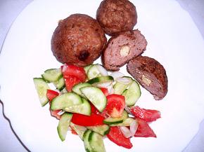Снимка 1 от рецепта за Кюфтета с кашкавал