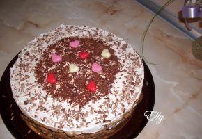 Снимка 1 от рецепта за Шоколадова бишкотена торта с кафе