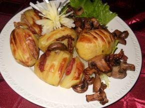 Снимка 1 от рецепта за Печени картофи с бекон и гъби