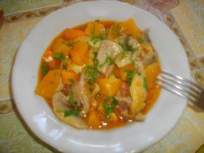 Снимка 1 от рецепта за Свински хапки с гъби, сметана и тиква