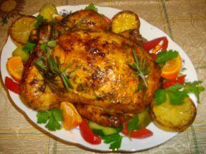 Снимка 1 от рецепта за Ароматно пиле с кайма