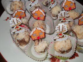 Снимка 1 от рецепта за Шоколадови топки с кокос