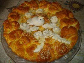 Снимка 1 от рецепта за Питка със сирене и украса от тесто