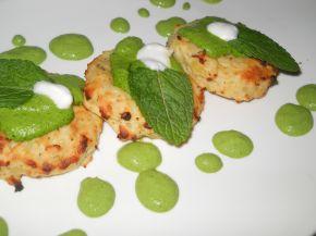 Снимка 1 от рецепта за Картофени крекери със спаначен мус