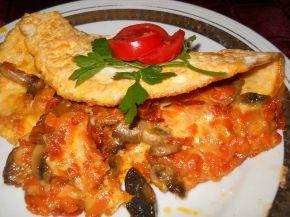 Снимка 1 от рецепта за Омлет с плънка от гъби, моркови и сирене Едам