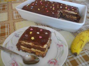 Снимка 1 от рецепта за Бисквитена торта с шоколадов пудинг