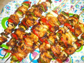 Снимка 1 от рецепта за Пилешки шишчета със сос Терияки