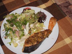 Снимка 1 от рецепта за Сьомга с хрупкава коричка