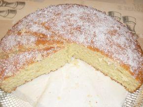 Снимка 1 от рецепта за Кекс, полят с локум и кокос
